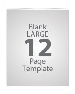 LARGE 12 PAGE BLANK