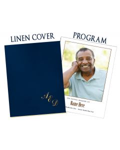 Large 8 Page Program With Linen and Vellum