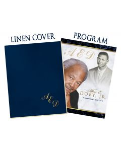Large 8 Page Program With Vellum and Linen